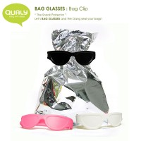 QL10070-BK-WH-PK QUALY Home Snack Protector Bag Glasses Set A