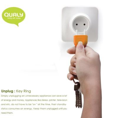 QL10076-ORANGE QUALY Living Styles Unplug Key Ring Holder