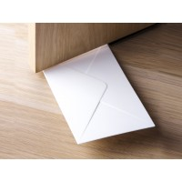 QL10151-WHITE QUALY Living Styles Door Stopper + Envelope Holder