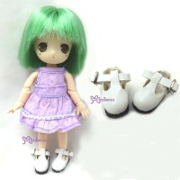 Middie B 2.2cm Doll Shoes Maryjane White SBB002WHE