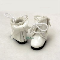 Middie B 2.2cm Doll Shoes Ribbon Boots White SBB007WHE
