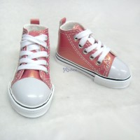 SHB032CHY SD13 Boy BJD Doll Shoes Metallic Sneaker Cherry