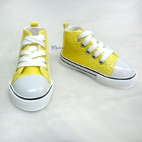 SHB032YEW SD13 Boy bjd Doll Shoes Metallic Sneaker Yellow
