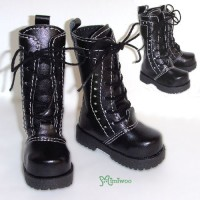 SHM041BLK MSD DOC 1/4 bjd doll Shoes PU Leather Causal Boots BLK
