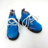 SHM042BLE MSD DOD DOC 1/4 bjd Doll Velvet Hiking Shoes Blue
