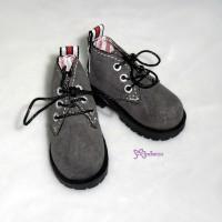 SHM042GRY MSD DOD DOC 1/4 bjd Doll Velvet Hiking Shoes Grey