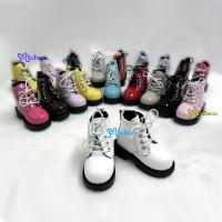 SHM049WHE MSD Obitsu 60cm Doll Boots High Hill Shoes Grey White