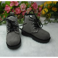 MSD Sasha Obitsu 60cm Doll High Hill Velvet Shoes Grey SHM075GRY