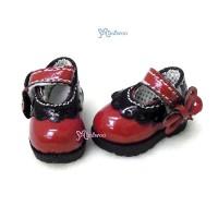 SHP112RDB 16cm Lati Yellow Mary Jane Strap Shoes Black Red