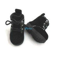 1/6 Bjd Neo B Doll Shoes Velvet Boots Black SHP187BLK
