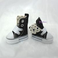 1/6 Bjd Neo B Denim MICRO Shoes Folded Boots Black SHP188BLK