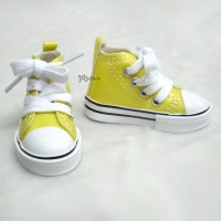 SHS140YEW SD DD bjd Doll Shoes Metallic Sneaker YELLOW