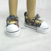 Yo SD BJD Doll MCC Maryjane Denim Shoes Orange Flower SHU052FRE