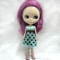 TBS086 1/6 BJD Doll Outfit One-Piece Dots Lace Dress