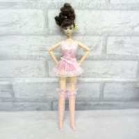 1/6 BJD Doll Pink Sexy Lingerie Dress Outfit TBS102PNK
