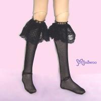 TMS014BLK MSD DOC 1/4 bjd Doll Lace Lolita Stockings Black