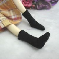 1/6 Bjd Doll Short Socks Black TPD118BLK