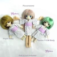 WHB002WHE Hujoo Baby OB 11cm Doll Yukata White