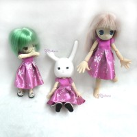 WHB006 OB 11cm Doll Figure One-piece Dress Snow