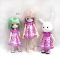 WHB008 OB 11cm Doll Figure One-piece Dress PinkDress Pink