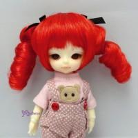Hujoo Baby Suve Obitsu 21cm Curl Braids Wig Red WM21-2TS-RD