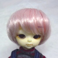 "Hujoo Baby Heat Resistant 4-5"" Shaggy Wig Pink 公仔 假髮 WM21-07-PK"