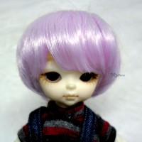 "Hujoo Baby Heat Resistant 4-5"" Shaggy Wig Purple 公仔 假髮 WM21-07-VL"