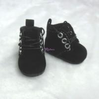 Mimi Collection 4cm Doll Shoes Velvet Black fit Monchhichi S Size  YK01BLK