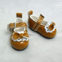 S Size MCC Doll Bow Shoes BROWN YK06BRN