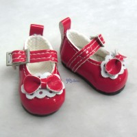 S Size MCC Doll Bow Shoes RED YK06RED