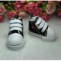 Yo SD OB Male 1/6 Bjd Doll Shoes Dots Sneaker Black SHU004BLK