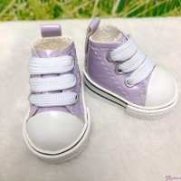 MCC S Size Plush Doll PU Leather Shoes Purple YK02PUE